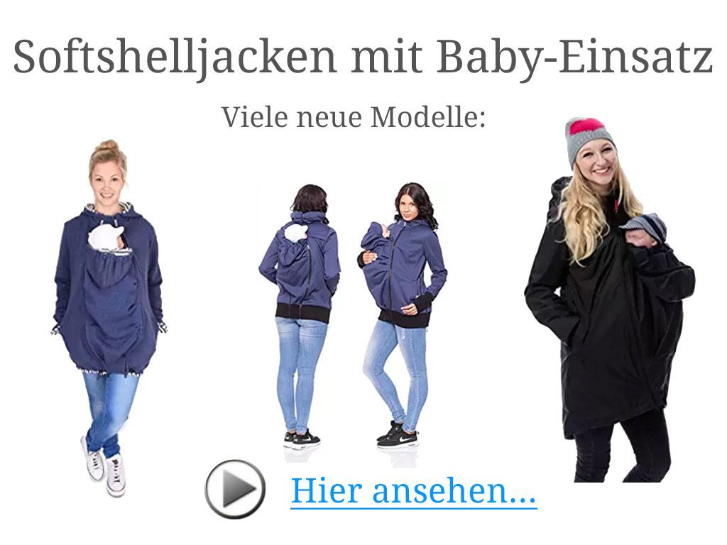 Softshelljacken mit Baby Einsatz für Mütter Softshell