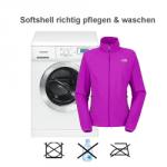 Softshell Jacken richtig pfelgen und waschen