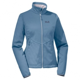 Jack Wolfskin Chill Out Softshelljacke Damen Smoke Blue - Blau