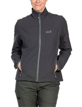 Jack Wolfskin Motion Flex Dark Steel Softshell Jacke grau