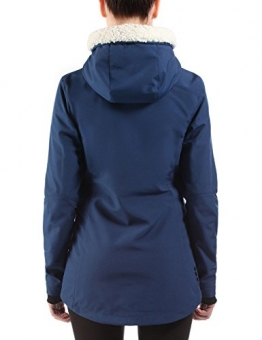 Bench Chilly Nights Softshelljacke Damen blau, Kapuze mit Plüsch