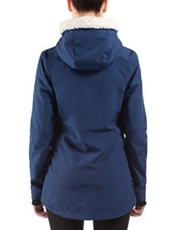 Bench Chilly Nights Softshelljacke Damen blau, Kapuze mit Plüsch