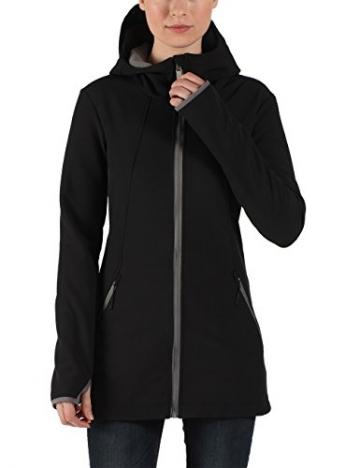 Bench Denney Softshelljacke / Mantel schwarz mit Daumenlöchern