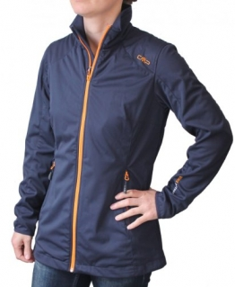 CMP Comfort Long Softshelljacke Damen Blau / Orange 3A54646