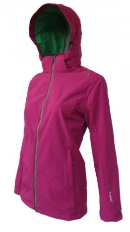 CMP Softshelljacke Damen Pink, grüner Reißverschluss 3A22226
