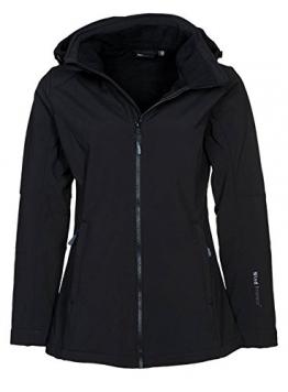 CMP Softshelljacke Damen Schwarz, große Größe / Übergröße