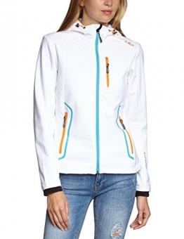 CMP Softshelljacke Damen Weiß, farbige Reißverschlüsse 3A32336