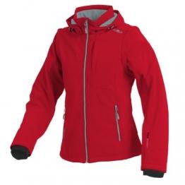 CMP Softshelljacke Neon Rot mit abnehmbaren Ärmeln 3A74326