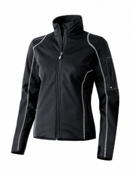 Erima Lite Active Wear Softshelljacke Damen schwarz