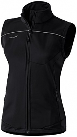 Erima Softshellweste Damen in Schwarz & grauem Streifen