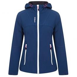 Icepeak Masako Softshell Jacke Damen Blau, weisser Reißverschluss