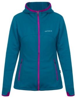 Icepeak Damen Softshell Jacke Blau - Reißverschluss Neon-Lila