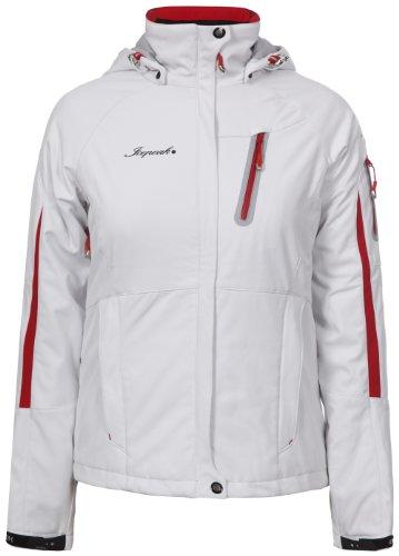 Icepeak Softshell Jacke Tabitha Weiß, rote Reißverschlüsse