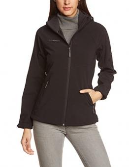 Mammut Ladakh Softshell Jacke Damen mit Kapuze schwarz