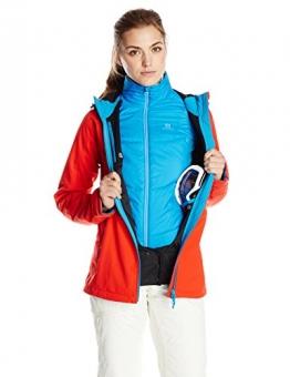 Salomon Snowtrip Damen Snowboard SoftsehllJacke rot, Unterjacke türkis