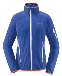 Vaude Damen Spire Jacke blau mit weißen Reißverschlüssen