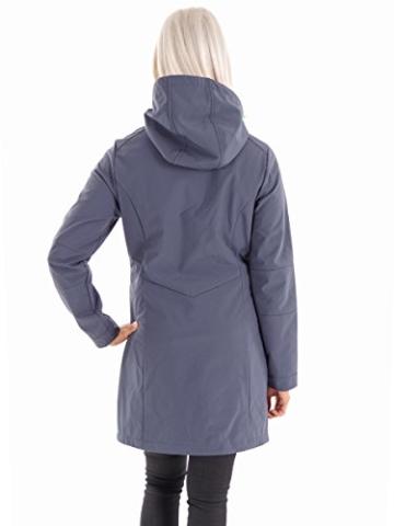 CMP 3A08326 Softshellmantel mit Kapuze für Damen in Grau -