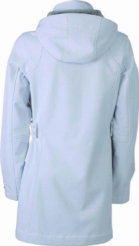 James & Nicholson JN1044 Damen-Softshellmantel Weiß (offwhite/silver) -