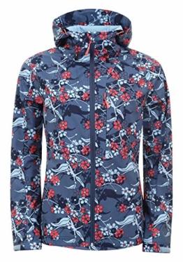 Icepeak Barby Softshelljacke 554921568I 363 mit rotweißem Blumenmuster