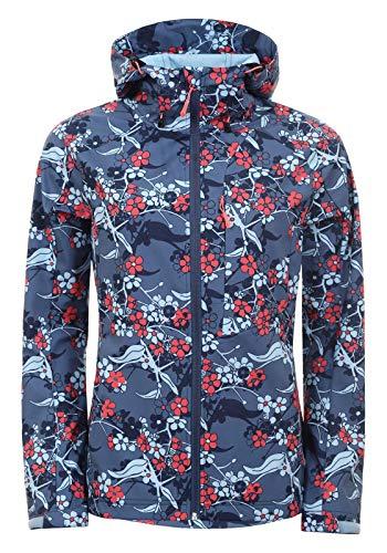 Icepeak Barby Softshelljacke 554921568I 363 mit rotweißem Blumenmuster -